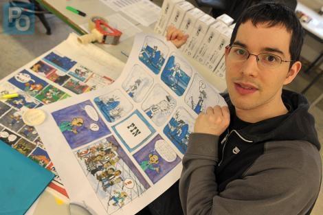arthur autistico disegnatore di fumetti