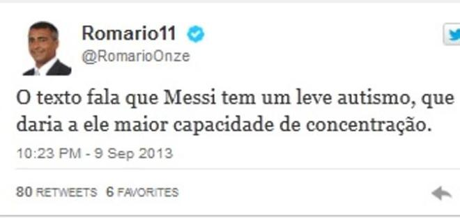 romario sindrome di asperger messi