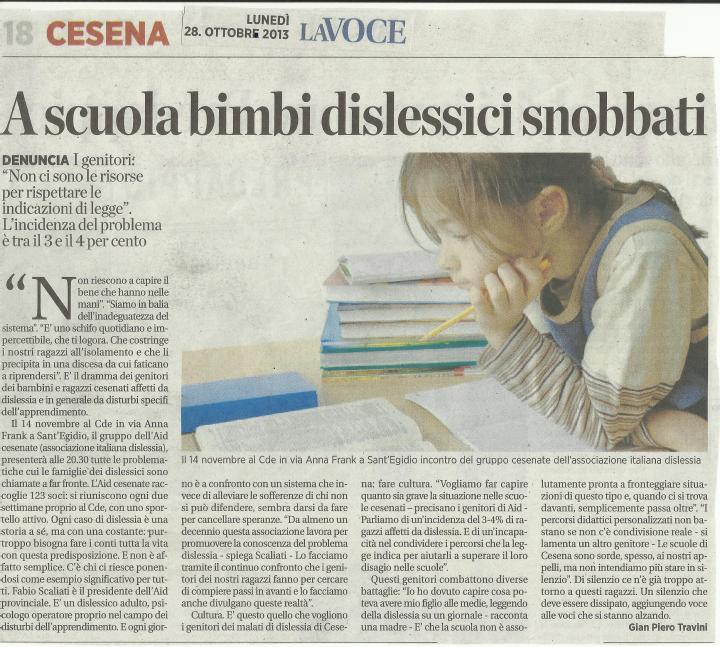 vergogna cesena dislessia