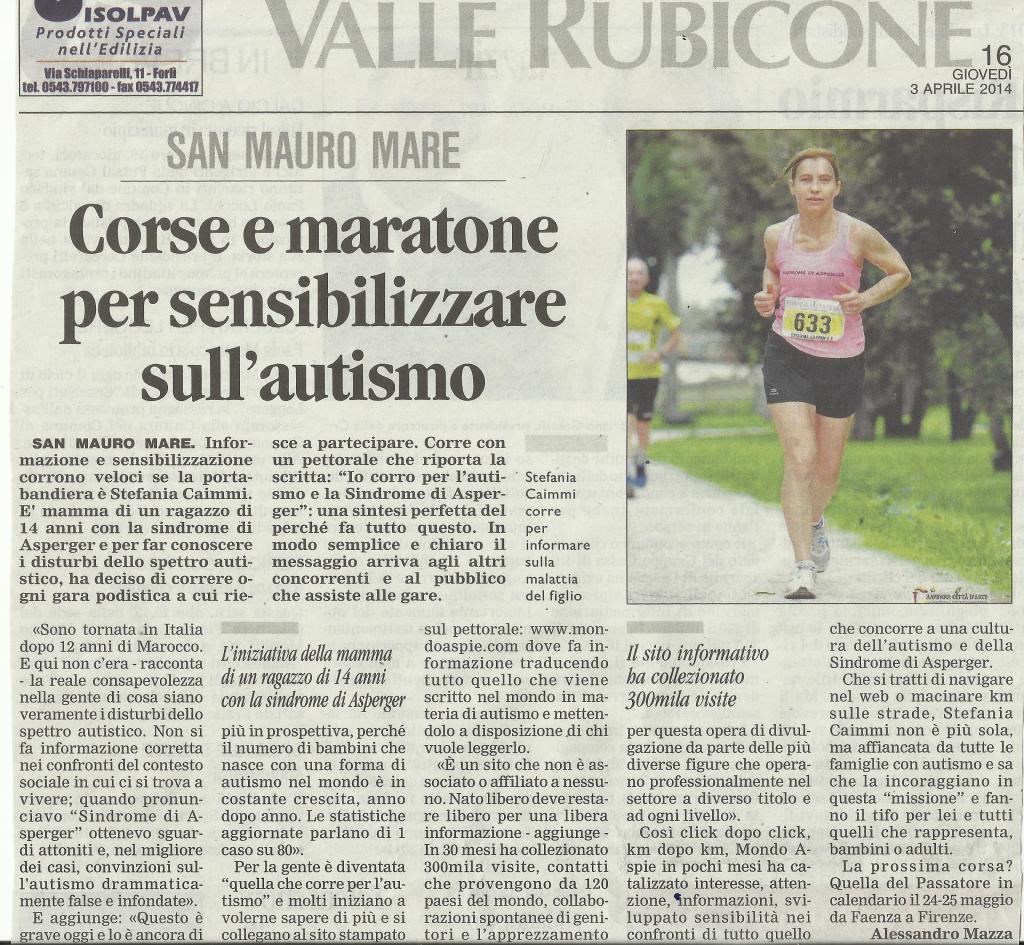 articolo giornale mondo aspie 3 aprile 2014