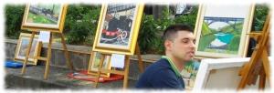 cristiano autismo pittura treni